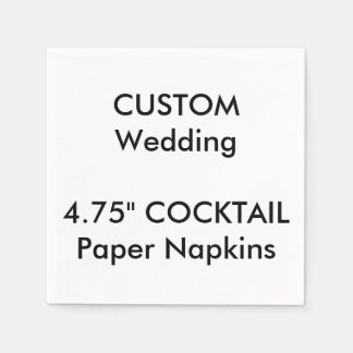 Custom White COCKTAIL Disposable Paper Napkins