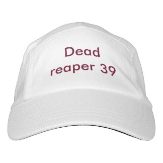 Custom White hat with Dead reaper 39 name
