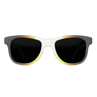 Custom White, Polarized Smoke Sun Sunglasses