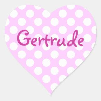 Custom White Polka Dots Heart Sticker