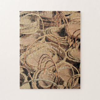 Custom Wicker Basket Gifts Jigsaw Puzzle