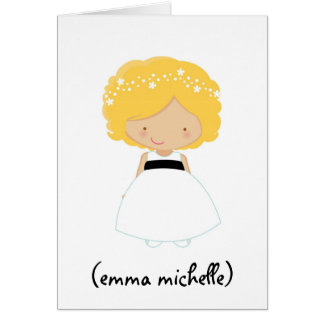 Custom Will You Be My Flower Girl Greeting Card