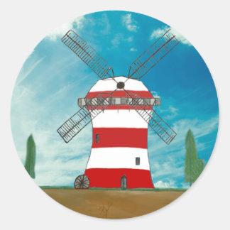 Custom Windmill Designed Products Round Sticker