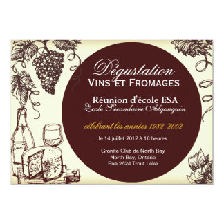 Custom Wine and Cheese Invitation - French