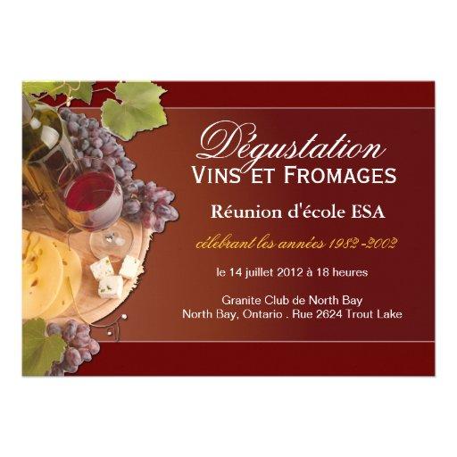 Custom Wine and Cheese Invitation - French