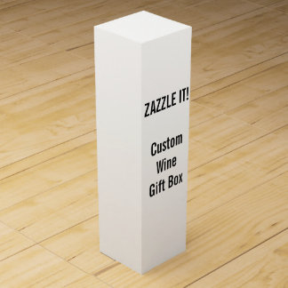 Custom Wine or Champagne Gift Box Blank Template Wine Bottle Boxes