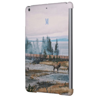 Custom Winter Snowfall trees reindeer joy holidays iPad Air Cover