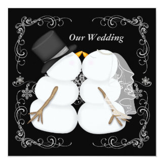 Custom Winter Wedding Invitation
