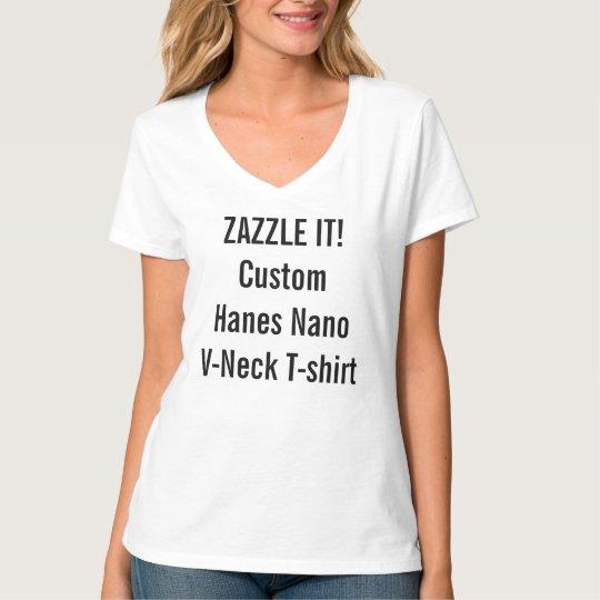 Custom Women's Hanes Nano V-Neck T-Shirt
