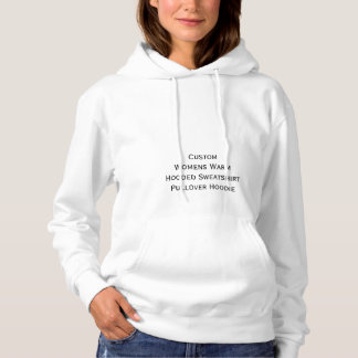 Custom Womens Hooded Sweatshirt Pullover Hoodie