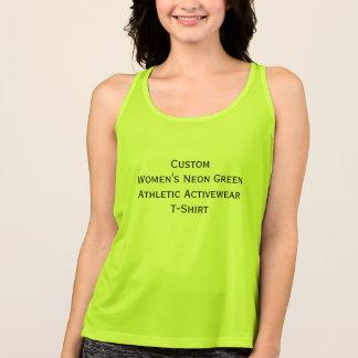 Custom Womens Neon Green Athletic Activewear Tee