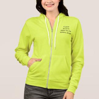 Custom Womens Neon Pink Full Zip Hoodie Jacket