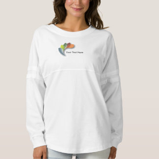 Custom Women's Spirit Jersey Shirt Multicolor Logo