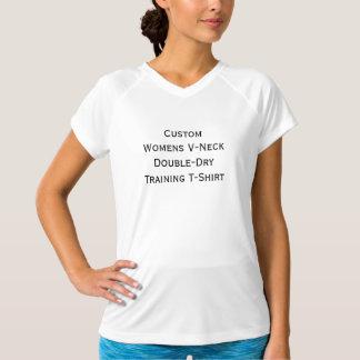 Custom Womens V-Neck Double-Dry Training T-Shirt