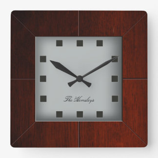Custom Wood Square Clock