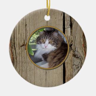 Custom Woodgrain Christmas Ornament