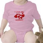 Custom Wording Cute I Love My Mommy Pink or Blue T Shirt