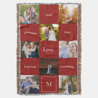 Custom Words and Photos Meaningful Gift Blanket Throw Blanket