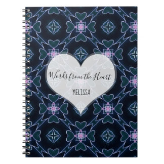 Custom Words From The Heart Notebook