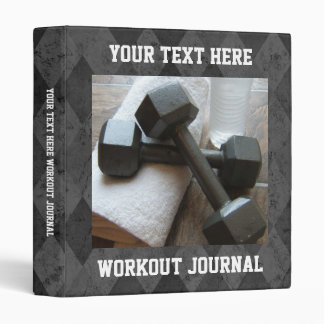 Custom Workout Journal, Exercise Schedule Book Binders