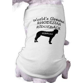 Custom Worlds Greatest Rhodesian Ridgeback Dog Shirt