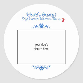 Custom Worlds Greatest Soft Coated Wheaten Terrier Classic Round Sticker
