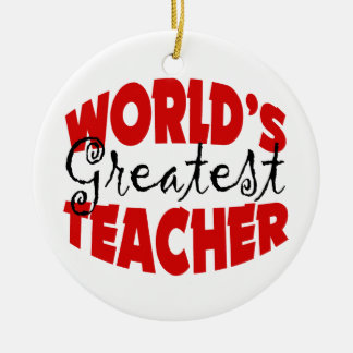 Custom Worlds Greatest Teacher Christmas Ornament