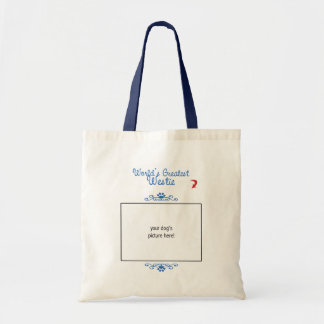 Custom Worlds Greatest Westie Tote Bag