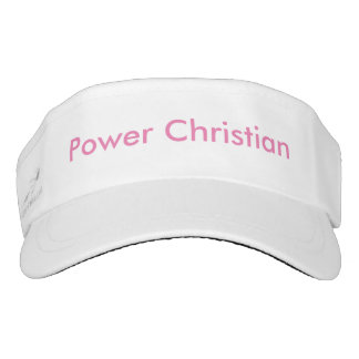 Custom Woven Visor - Power Christian