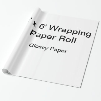 Custom Wrapping Paper (2x6 Roll, Glossy Paper)