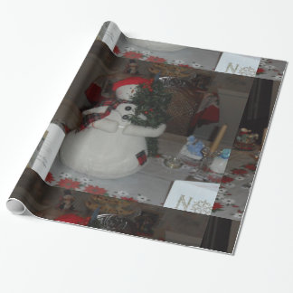 custom wrapping paper sets snowman
