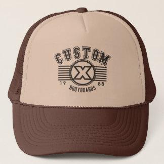 Custom X college design trucker hat
