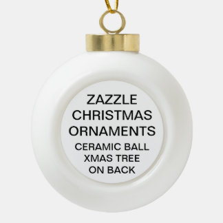 Custom XMAS TREE Ball Christmas Ornament Template