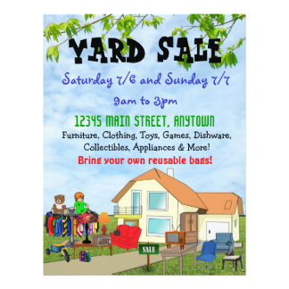 Custom Yard or Garage Sale Flyers