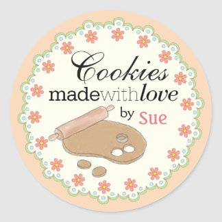 Custom Year 'Round Pastel Cookie Gift Stickers