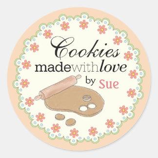 Custom Year 'Round Pastel Cookie Gift Stickers