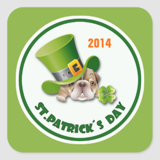 Custom Year St. Patrick's Day Stickers Stickers