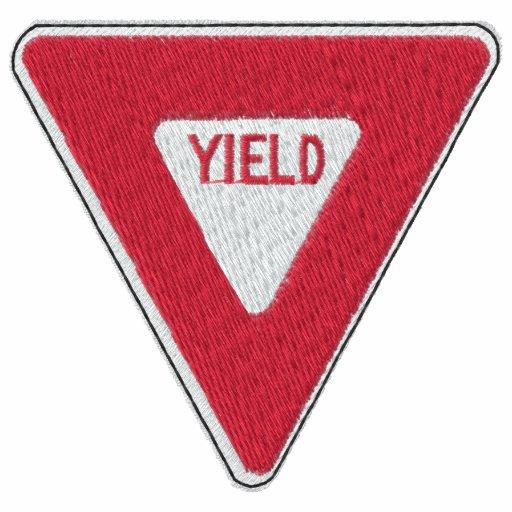 Custom Yeild Sign Embroidered Shirt