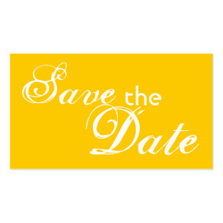 Custom yellow back save the date wedding cards business card templates
