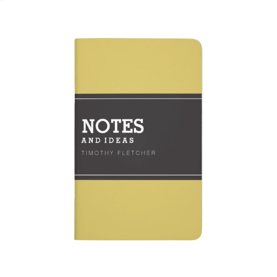 Custom Yellow Notebook Journal