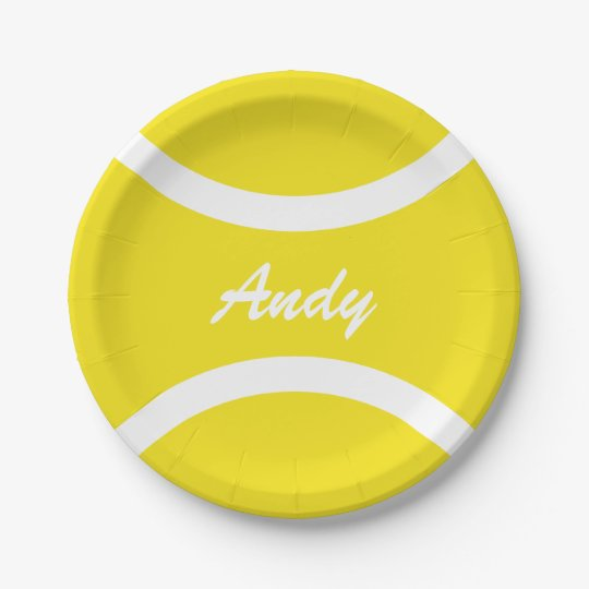 Custom yellow tennis ball BBQ party paper plates 7 Inch Paper Plate