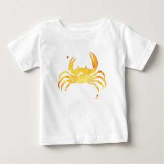 Custom yellow watercolour crab baby T-Shirt