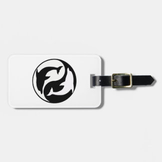 Custom Yin Yang Dolphins Luggage Tag