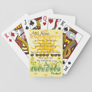 Custom You Are My Sunshine Add Name Playing Cards