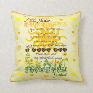 Custom You are My Sunshine Pillow
