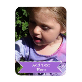 Custom Your Favorite Photo Magnet Add Text