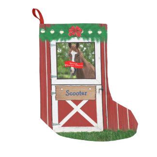 Custom (Your Horse Photo) Barn Door Stocking