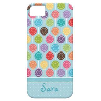 Custom Your Name Lollipop Pattern iPhone 5 Case