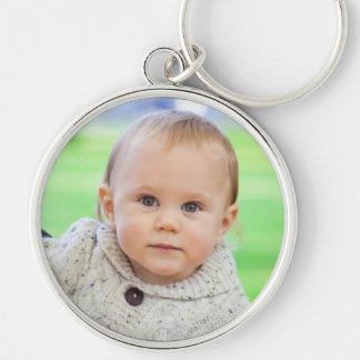 Custom your photo personalized baby boy keychain