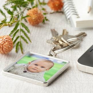 Custom your photo personalized baby boy keychain